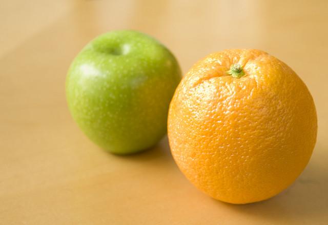 apples oranges